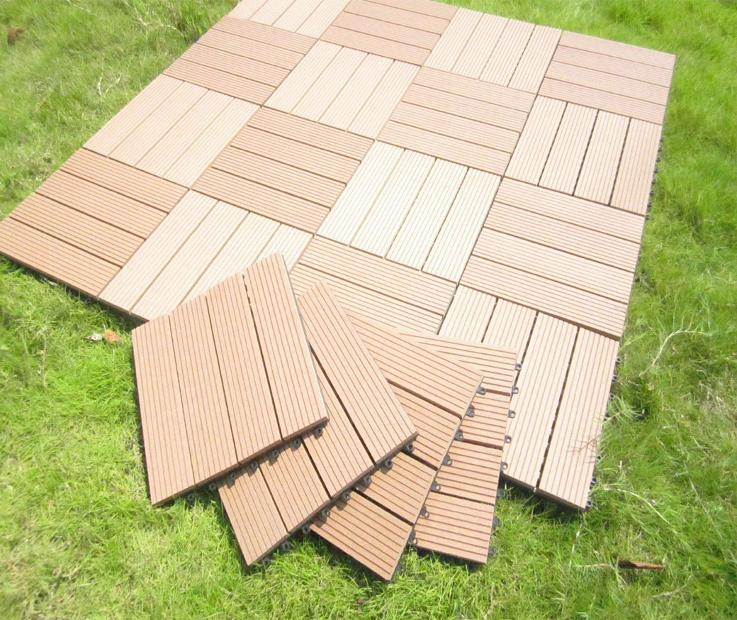 WPC interlocking DIY decking tiles