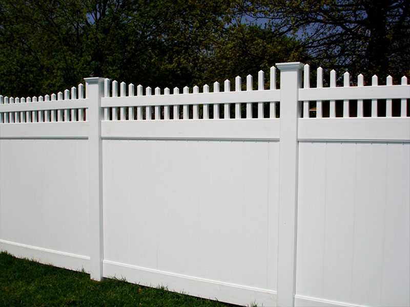 QZP-07(1830x2440MM)-PVC Privacy Fence With Open Picket