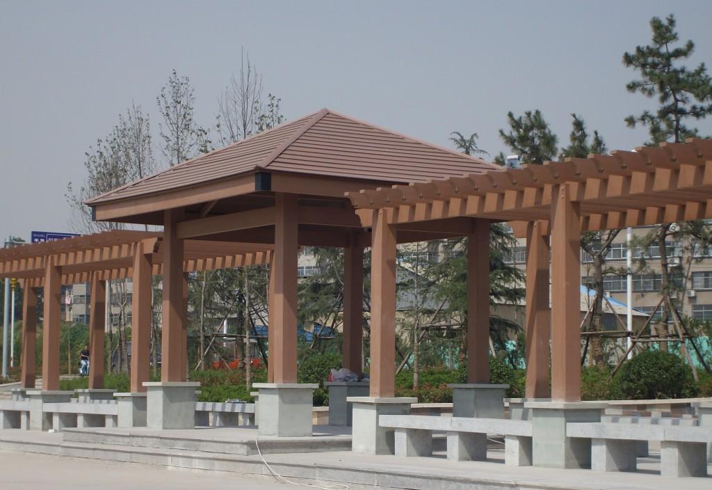 three-appearance-demands-of-wood-plastic-pavilion