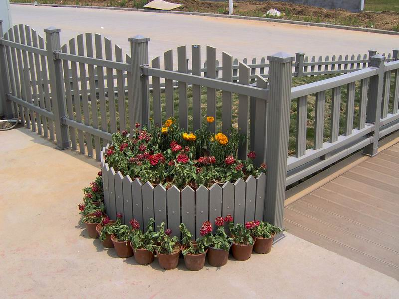 wood plastic fence material