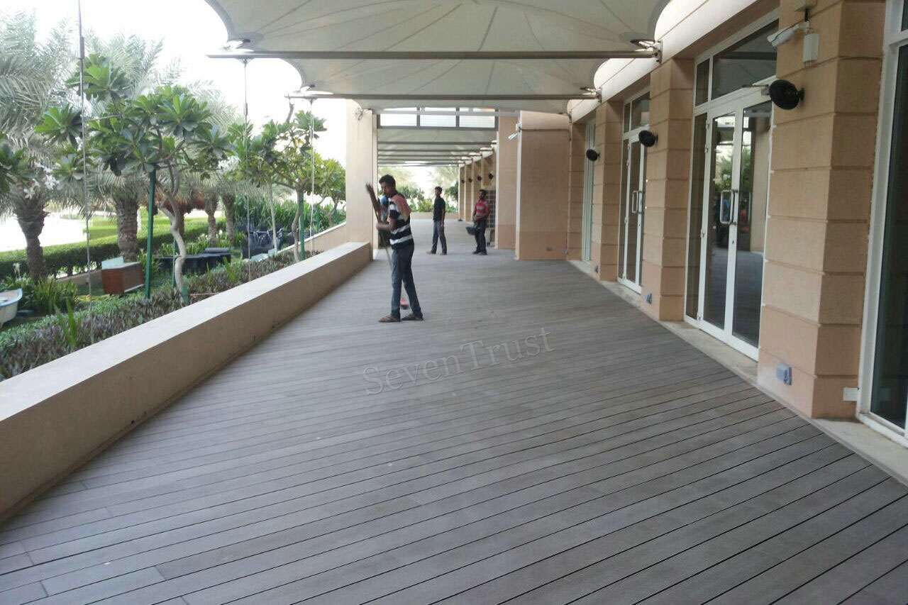 wpc decking project in oman