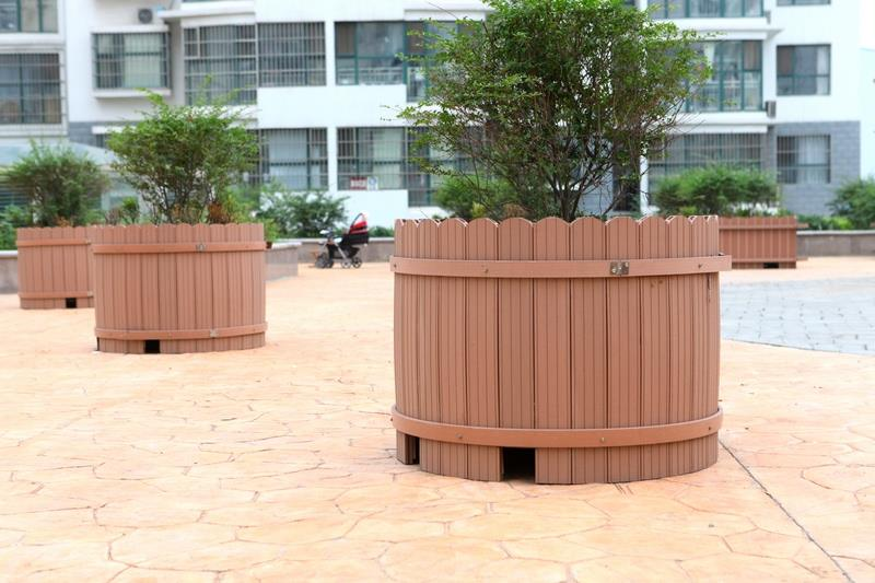 outdoor wood plastic flower box