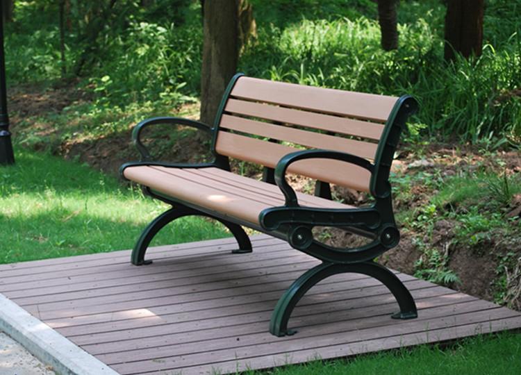 plastic wood outdoor leisure bench
